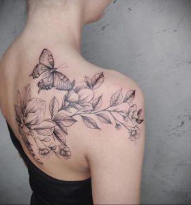 Фото татуировки на тему весны 01.05.2020 №053 -spring tattoo- tatufoto.com