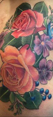 Фото татуировки на тему весны 01.05.2020 №065 -spring tattoo- tatufoto.com