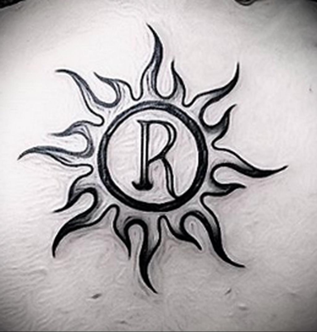Фото татуировки с солнцем 02.05.2020 №024 -sun tattoo- tatufoto.com
