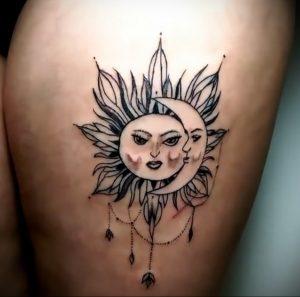 Фото татуировки с солнцем 02.05.2020 №042 -sun tattoo- tatufoto.com