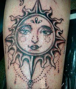 Фото татуировки с солнцем 02.05.2020 №139 -sun tattoo- tatufoto.com