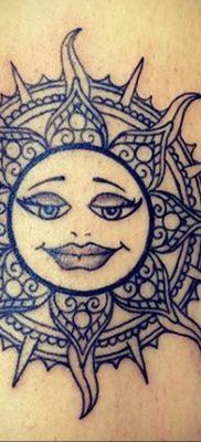 Фото татуировки с солнцем 02.05.2020 №140 -sun tattoo- tatufoto.com