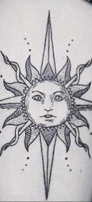 Фото татуировки с солнцем 02.05.2020 №144 -sun tattoo- tatufoto.com