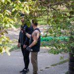 Фото тату с иероглифом на левом плече у парня – 09.05.2020 - Уличная татуировка (Street tattoo) – tatufoto.com 1