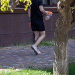Фото хендпоук тату на ноге парня с коброй и приведением – 09.05.2020 - Уличная татуировка (Street tattoo) – tatufoto.com 1