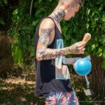 Олдскул тату на теле парня – Уличная татуировка (Street tattoo) № 04 – 12.06.2020 для tatufoto.com 6