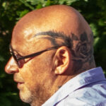 Татуировка венок с розами на голове мужчины – Уличная татуировка (Street tattoo) № 05 – 15.06.2020 для tatufoto.com 2