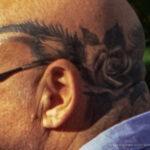 Татуировка венок с розами на голове мужчины – Уличная татуировка (Street tattoo) № 05 – 15.06.2020 для tatufoto.com 3