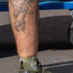 Татуировки на голени у мужчин – Уличная татуировка (Street tattoo) № 04 – 12.06.2020 для tatufoto.com 3