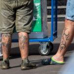 Татуировки на голени у мужчин – Уличная татуировка (Street tattoo) № 04 – 12.06.2020 для tatufoto.com 5