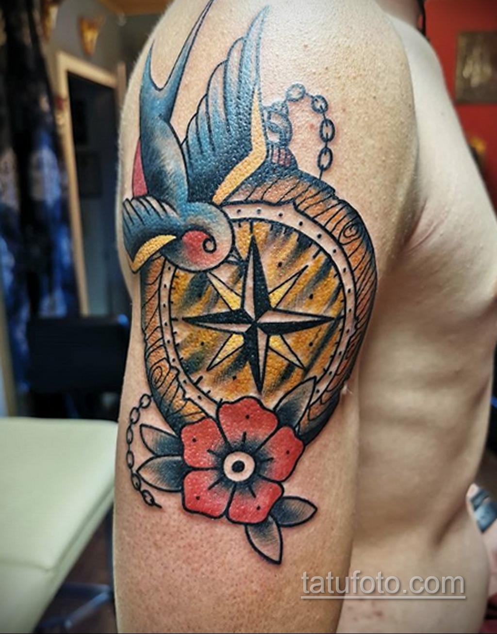 Тату для моряка - морская тематика тату 25.06.2020 №030 -tattoo sailor- tatufoto.com
