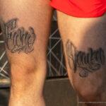 Тату надписи на ноге – пальма и крыло на руке у парня – Уличная татуировка (street tattoo) № 06 – 18.06.2020 – tatufoto.com 5