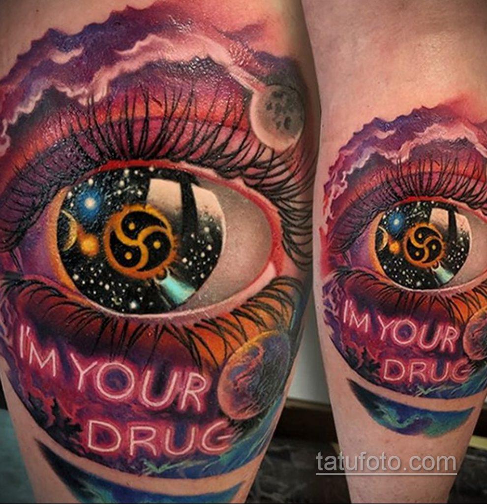 Тату на тему наркотиков 25.06.2020 №032 -drug tattoo- tatufoto.com