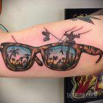 Тату с солнцезащитными очками 30.06.2020 №005 -Sunglasses tattoo- tatufoto.com