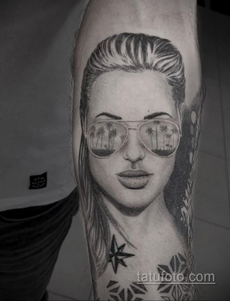 Тату с солнцезащитными очками 30.06.2020 №022 -Sunglasses tattoo- tatufoto.com