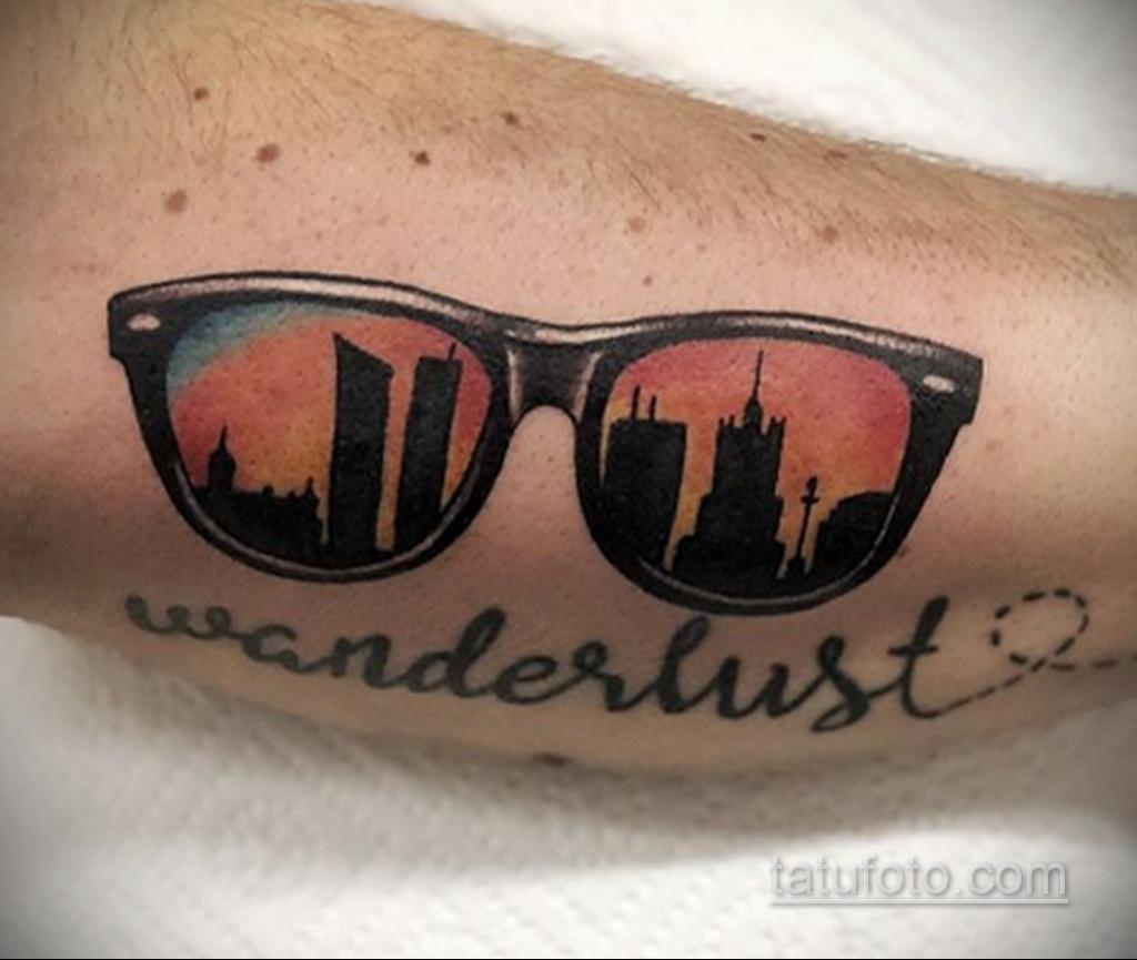 Тату с солнцезащитными очками 30.06.2020 №024 -Sunglasses tattoo- tatufoto.com