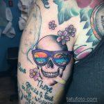 Тату с солнцезащитными очками 30.06.2020 №092 -Sunglasses tattoo- tatufoto.com