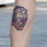 Тату с тигром у которого три глаза на ноге парня – Уличная татуировка (street tattoo) № 06 – 18.06.2020 – tatufoto.com 6
