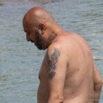 Тату с фениксом на левом плече мужчины – Уличная татуировка (Street tattoo) № 04 – 12.06.2020 для tatufoto.com 2