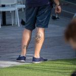 Тату с черепом и велосипедом на ноге парня - Уличная татуировка (street tattoo) № 06 – 18.06.2020 – tatufoto.com 5