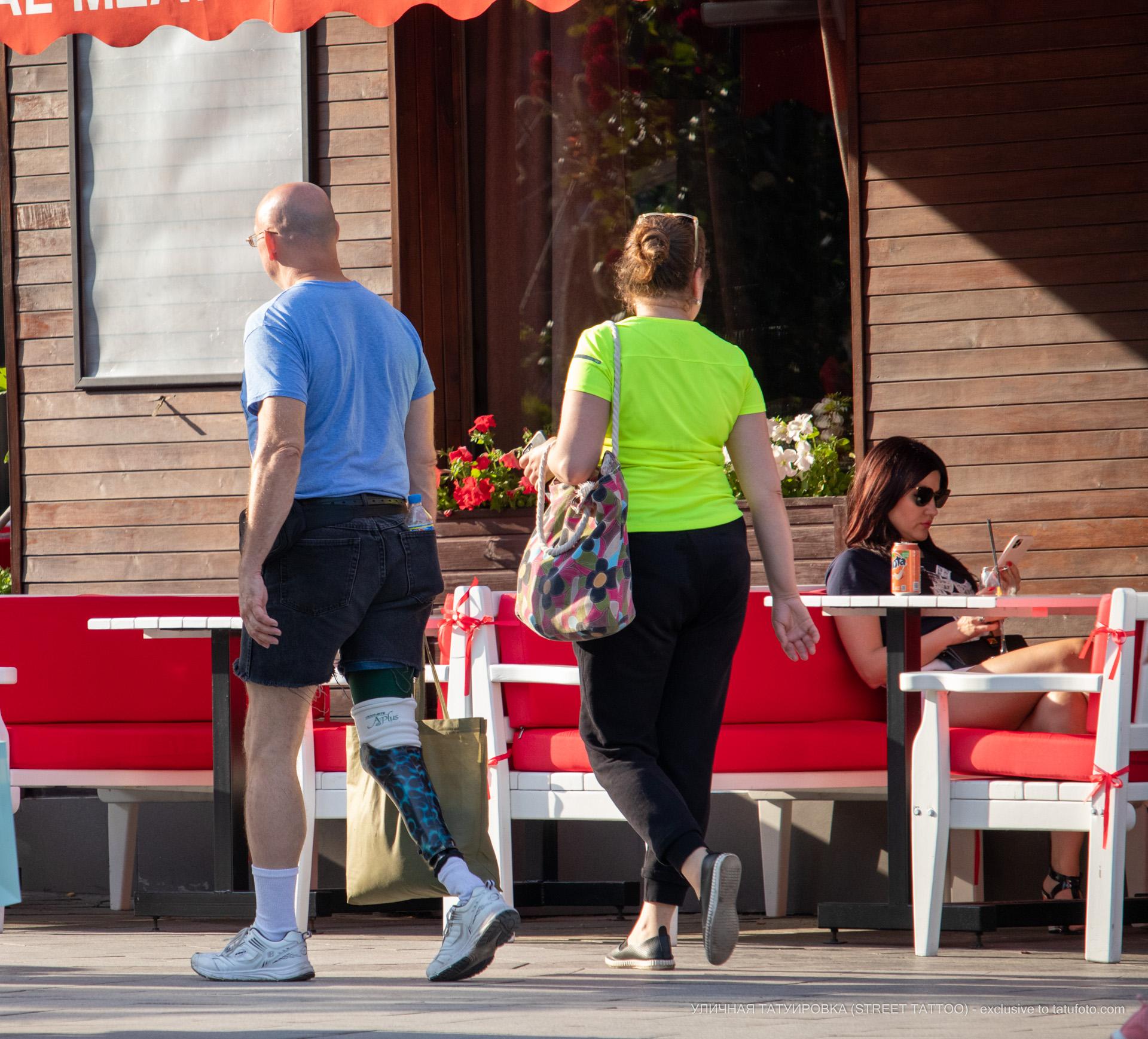 Фото мужчины с протезом ноги который занимается спортом у моря – Уличная татуировка (street tattoo) № 06 – 18.06.2020 – tatufoto.com 1