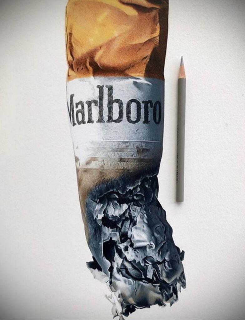 Фото примеры реалистичных рисунков от Си Джей Хендри 3