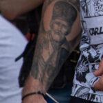 Фото тату со Святым Николаем на руке мужчины – Уличная татуировка (Street tattoo) № 05 – 15.06.2020 для tatufoto.com 5