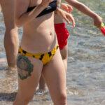 Фото тату с портретом Мерлин Монро в круглой рамке – Уличная татуировка (Street tattoo) № 04 – 12.06.2020 для tatufoto.com 4
