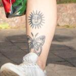 Черные тату на теле девушки – Уличная татуировка (Street tattoo) № 05 – 15.06.2020 для tatufoto.com 2
