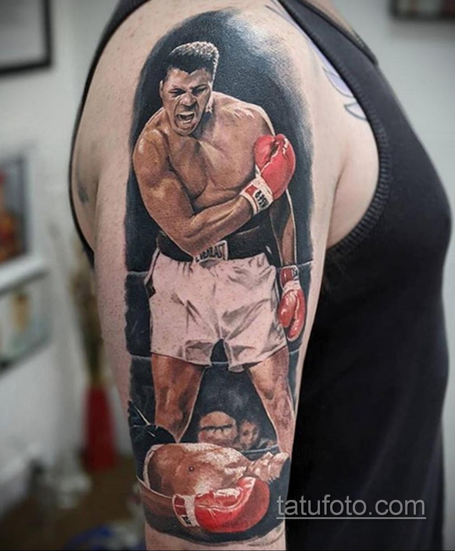 Фото татуировки про Бокс 22.07.2020 №007 -boxing tattoo- tatufoto.com