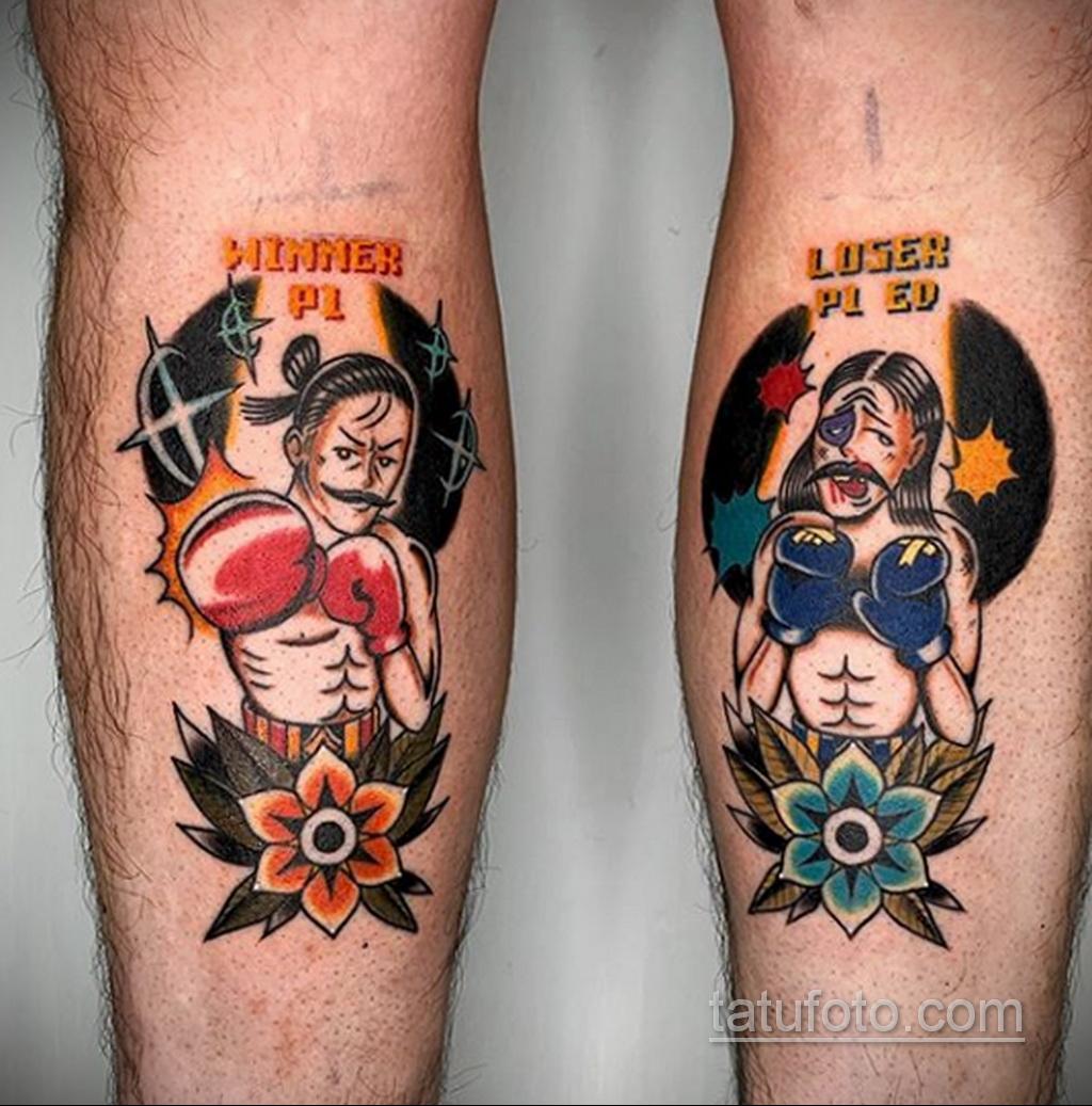 Фото татуировки про Бокс 22.07.2020 №072 -boxing tattoo- tatufoto.com