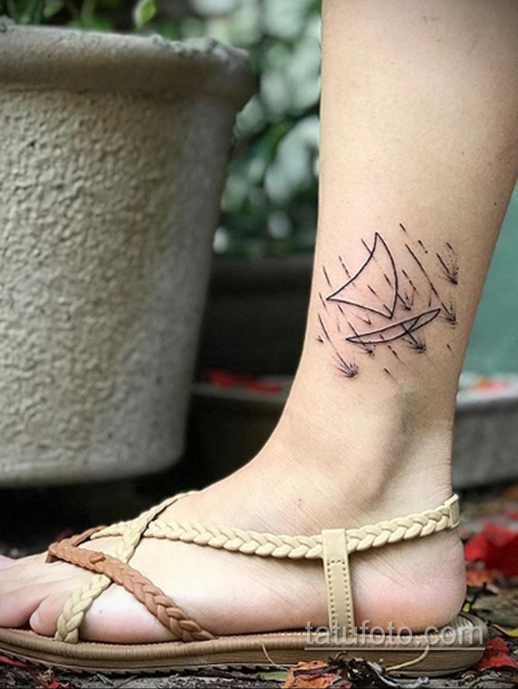 Фото татуировки с дождем 18.07.2020 №004 -rain tattoo- tatufoto.com