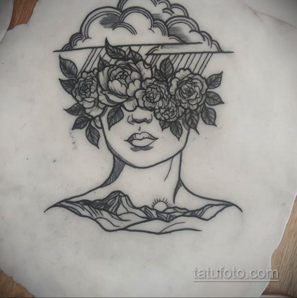 Фото татуировки с дождем 18.07.2020 №014 -rain tattoo- tatufoto.com