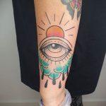 Фото татуировки с дождем 18.07.2020 №062 -rain tattoo- tatufoto.com