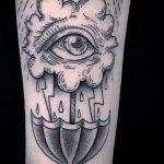 Фото татуировки с дождем 18.07.2020 №064 -rain tattoo- tatufoto.com