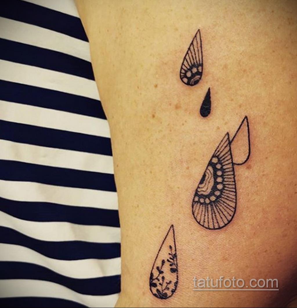 Фото татуировки с дождем 18.07.2020 №066 -rain tattoo- tatufoto.com