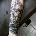 Фото татуировки с кораблем 07.07.2020 №079 -ship tattoo- tatufoto.com