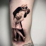 Фото татуировки с поцелуем 06.07.2020 №083 -kiss tattoo- tatufoto.com