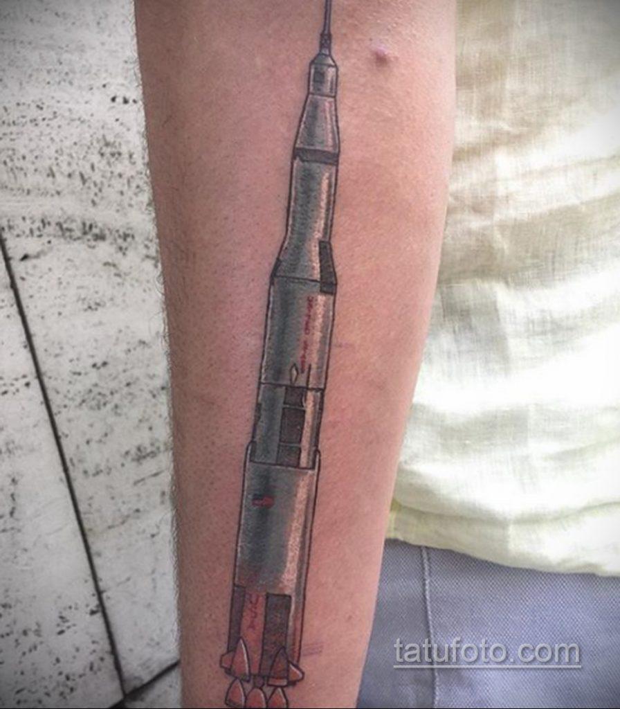 Фото татуировки с ракетой 08.07.2020 №011 -rocket tattoo- tatufoto.com