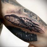 Фото татуировки с ракетой 08.07.2020 №027 -rocket tattoo- tatufoto.com