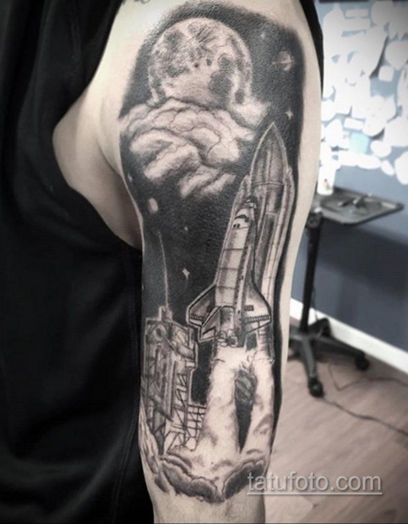 Фото татуировки с ракетой 08.07.2020 №066 -rocket tattoo- tatufoto.com