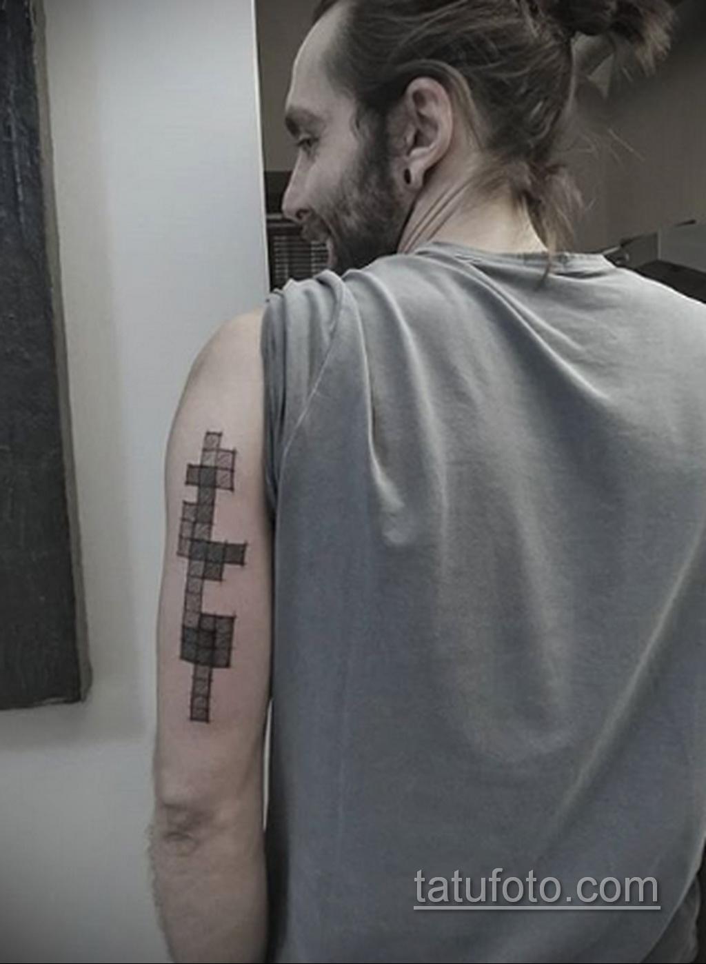 Фото татуировки с тетрисом 18.07.2020 №022 -tetris tattoo- tatufoto.com