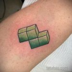 Фото татуировки с тетрисом 18.07.2020 №041 -tetris tattoo- tatufoto.com
