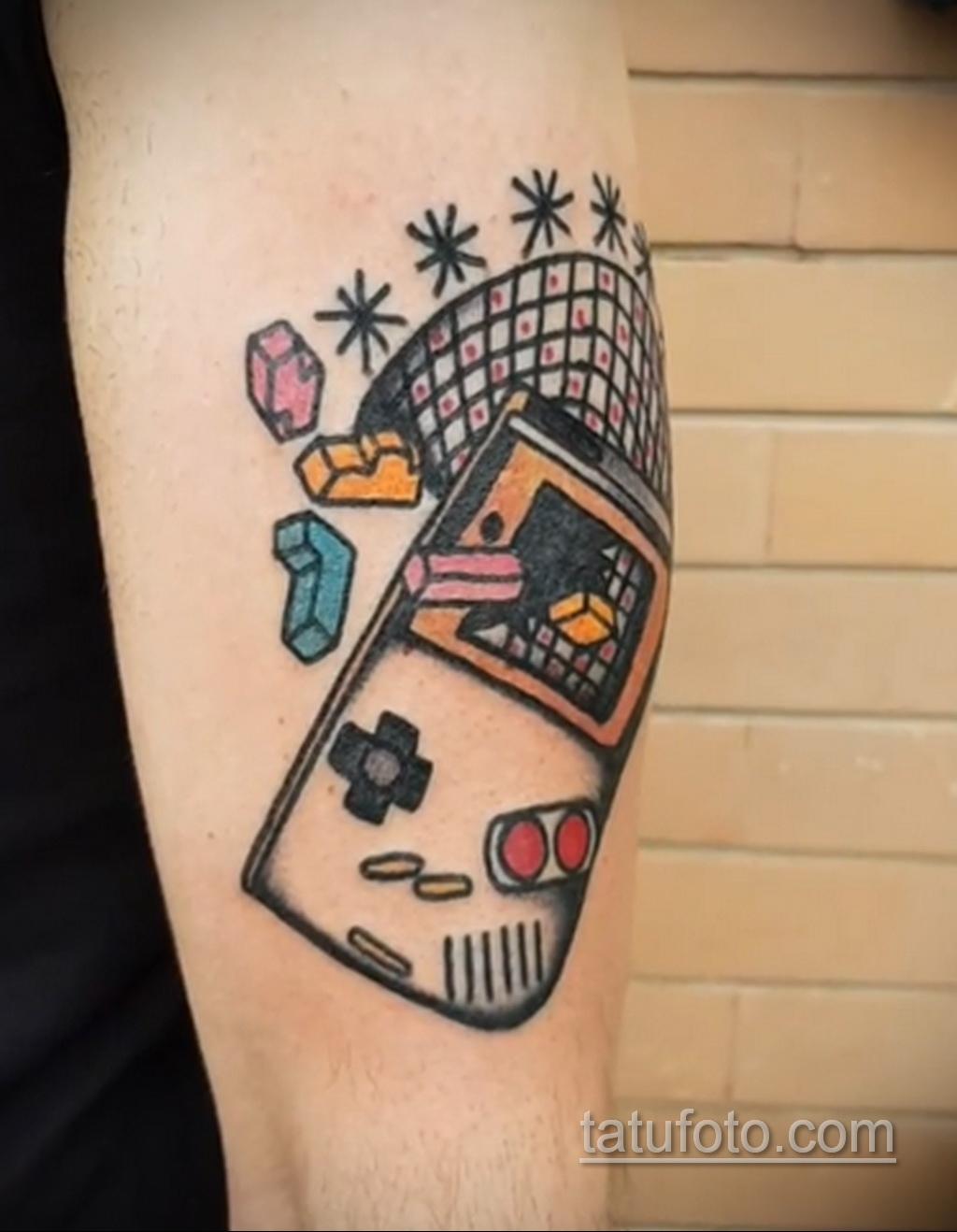 Фото татуировки с тетрисом 18.07.2020 №045 -tetris tattoo- tatufoto.com