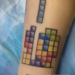 Фото татуировки с тетрисом 18.07.2020 №052 -tetris tattoo- tatufoto.com
