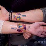 Фото татуировки с тетрисом 18.07.2020 №053 -tetris tattoo- tatufoto.com