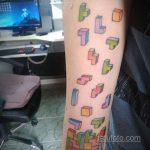 Фото татуировки с тетрисом 18.07.2020 №057 -tetris tattoo- tatufoto.com