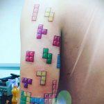 Фото татуировки с тетрисом 18.07.2020 №060 -tetris tattoo- tatufoto.com
