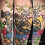 Фото татуировки с тетрисом 18.07.2020 №061 -tetris tattoo- tatufoto.com