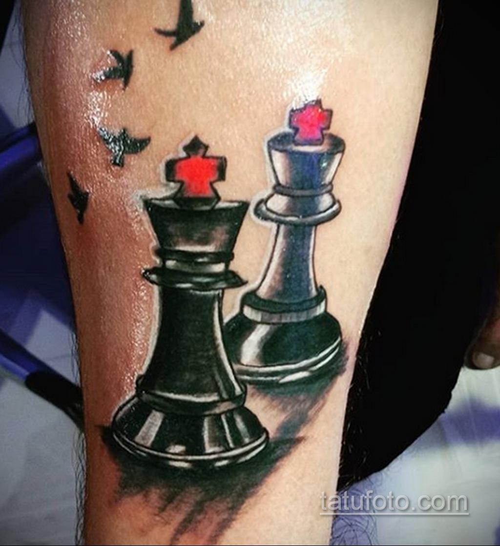Фото татуировки с шахматами 20.07.2020 №027 -chess tattoo- tatufoto.com